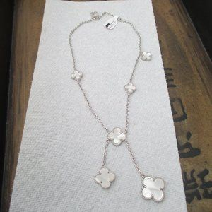 Arpel necklace mother pearl silver